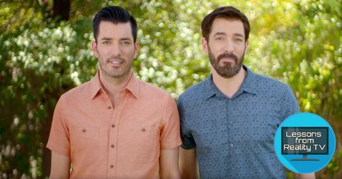 The Property Brothers Reveal a Clever Hack To Hide a Huge TV