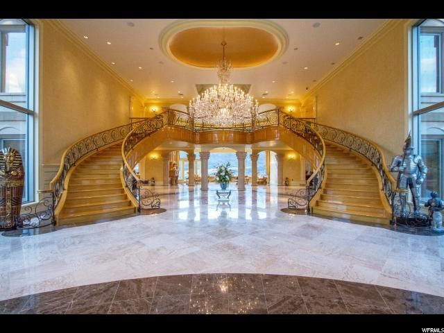 Grand Foyer Double Staircase : Even with price cut this m mansion is most expensive