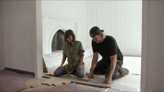 With so many different types of flooring, Leanne and Steve Ford knew they needed a way to transition between styles.