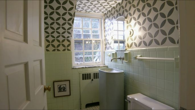 Modern details make this bathroom look new.