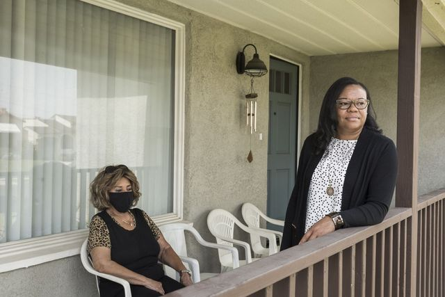 South Los Angeles residents Faye Dedmon and her daughter Tammie Mason